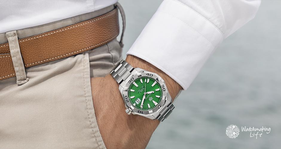 El Aquaracer de TAG Heuer se viste de verde